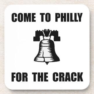 Grieta de Philly Posavasos De Bebidas