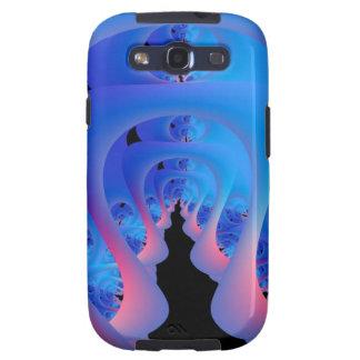 Grieta en el laberinto en Samsung azul y rosado Galaxy SIII Carcasas