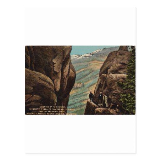 Grieta en las rocas, parque de Manitou del soporte Tarjeta Postal