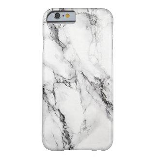Grieta negra de piedra de mármol gris funda de iPhone 6 barely there