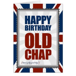 Grieta vieja del feliz cumpleaños tarjeta de felicitación