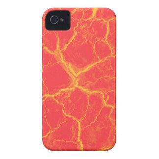Grietas anaranjadas en la caja intrépida roja de iPhone 4 Case-Mate cárcasas