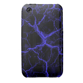 Grietas azules en la caja negra del iPhone 3 Case-Mate iPhone 3 Protectores