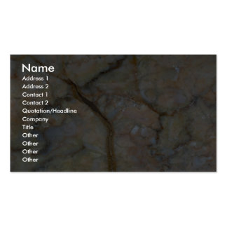 Grietas curvadas roca sólido tarjetas de visita