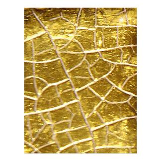 """Grietas de piedra del oro folleto 8.5"""" x 11"""""""