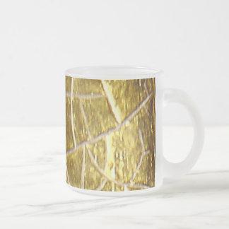 Grietas de piedra del oro taza de cristal