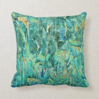 Grietas en azul almohadas
