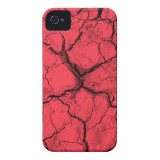 Grietas negras en la caja intrépida roja de Case-Mate iPhone 4 carcasa