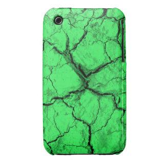 Grietas negras en la caja verde del iPhone 3 iPhone 3 Case-Mate Coberturas