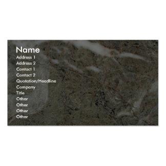 Grietas pulidas roca sólido tarjetas de visita