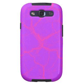 Grietas rosadas en la caja púrpura de la galaxia S Samsung Galaxy S3 Funda