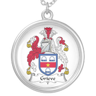 Grieve Family Crest Silver Plated Necklace