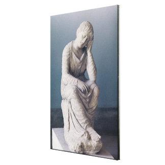 Grieving maiden Attic Greece c 330 BC stone Canvas Print