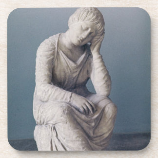 Grieving maiden, Attic, Greece, c.330 BC (stone) Beverage Coasters