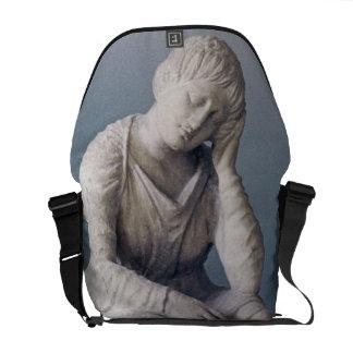 Grieving maiden, Attic, Greece, c.330 BC (stone) Messenger Bag
