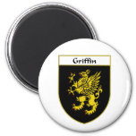 Griffin Coat of Arms/Family Crest 2 Inch Round Magnet