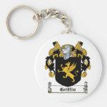 Griffin Family Crest Basic Round Button Keychain