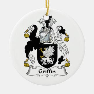 Griffin Family Crest Ceramic Ornament