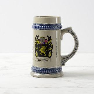 Griffin Family Crest Ceramic Stein 18 Oz Beer Stein