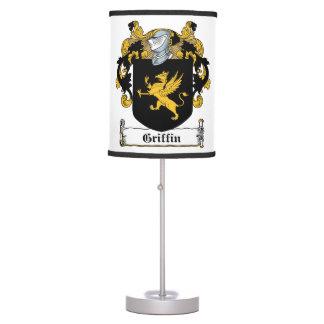 Griffin Family Crest Desk Lamps