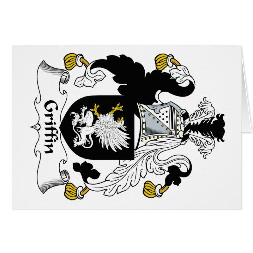 Griffin Family Crest Greeting Card