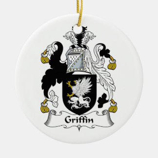 Griffin Family Crest Christmas Tree Ornaments