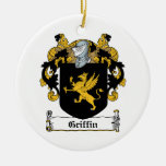 Griffin Family Crest Double-Sided Ceramic Round Christmas Ornament