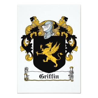 Griffin Family Crest Personalized Invite