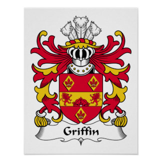 Griffin Family Crest Poster