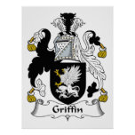 Griffin Family Crest Posters