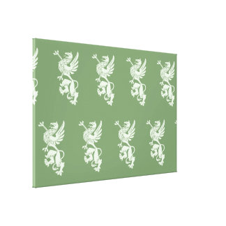 Griffin green canvas print