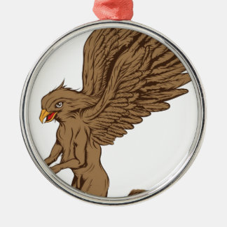 Griffin, Gryphon, or Griffon Metal Ornament
