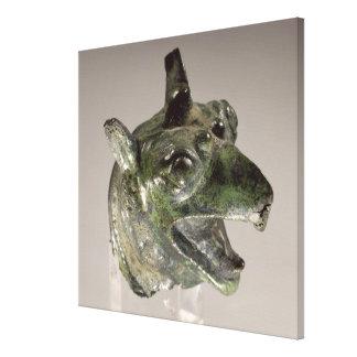 Griffin head, fragment of a cauldron attachment, f canvas prints