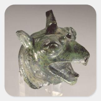 Griffin head, fragment of a cauldron attachment, f square sticker