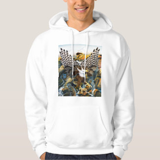 Griffin in Waterfall Hooded Pullover
