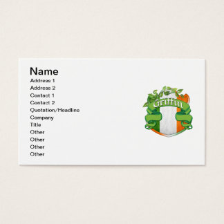 Griffin Irish Shield Business Card