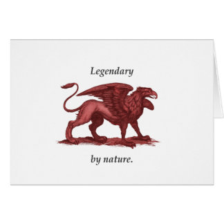Griffin - legendary by nature. greeting card