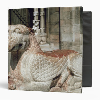 Griffin lying on a plinth, mid 13th century binders