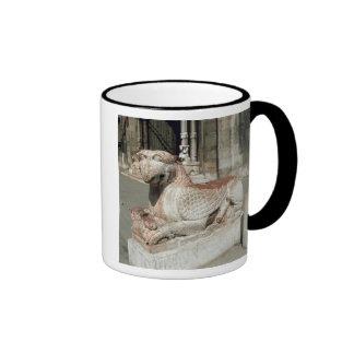 Griffin lying on a plinth, mid 13th century coffee mug