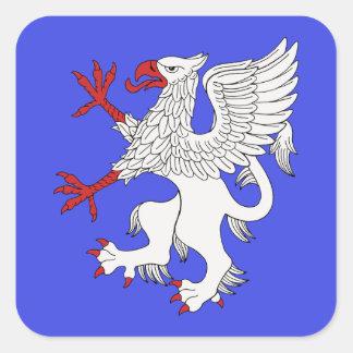 Griffin Rampant Argent Square Sticker