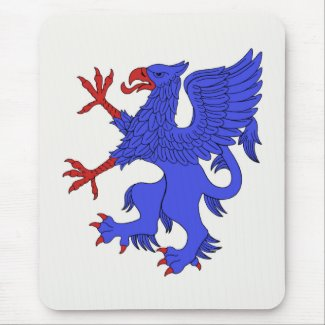 Griffin Rampant Azure Mouse Pad
