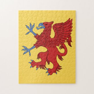 Griffin Rampant Gules Jigsaw Puzzle