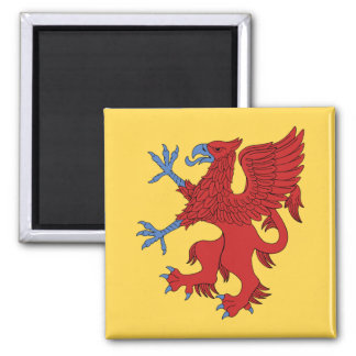 Griffin Rampant Gules Magnet