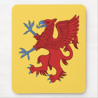 Griffin Rampant Gules Mouse Pad