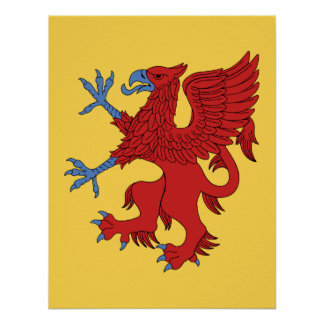 Griffin Rampant Gules Poster