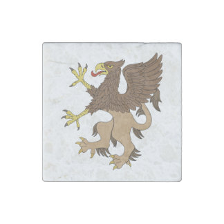 Griffin Rampant Marble Magnet Stone Magnet