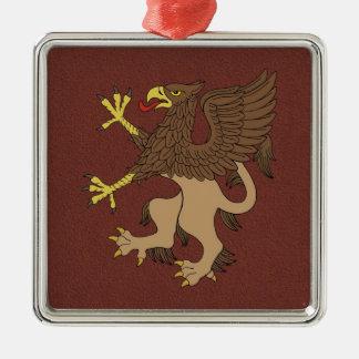 Griffin Rampant Metal Ornament