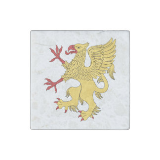 Griffin Rampant Or Marble Magnet Stone Magnet
