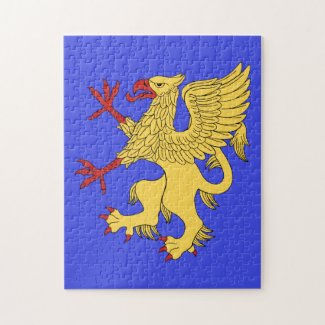 Griffin Rampant Or Puzzle