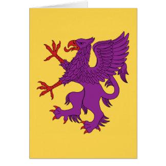 Griffin Rampant Purpure Card